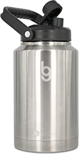 beGood Growler - One Gallon Vacuum Insulated Jug, Stainless Steel Insulated Beer Growler, 128 oz Insulated Water Bottle, Thermo Canteen