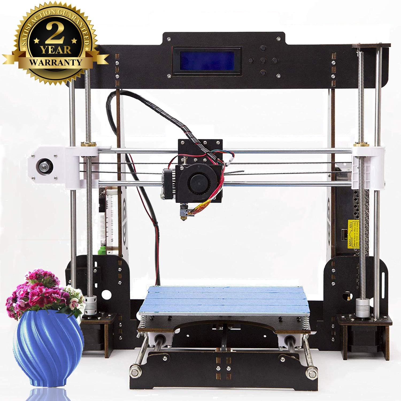 Imprimante 3D A8 Prusa I3 DIY Imprimante 3D de bureau , Impression rapide et de haute pré cision de modè les 3D (120 mm / s), Imprimante avec ABS / PLA de 1.75 mm ( Imprimante 3D A8)-Colorfish
