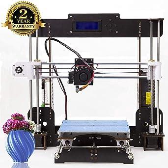Impresora 3D A8 Prusa I3 DIY Desktop 3D Printer, Impresión rápida y de alta precisión de modelos 3D (120 mm / s), Impresora con 1.75 mm ABS / PLA (...
