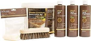 Furniture Clinic Garden Restoration Kit - Teak Cleaner, Teak Brightener, Teak Oil