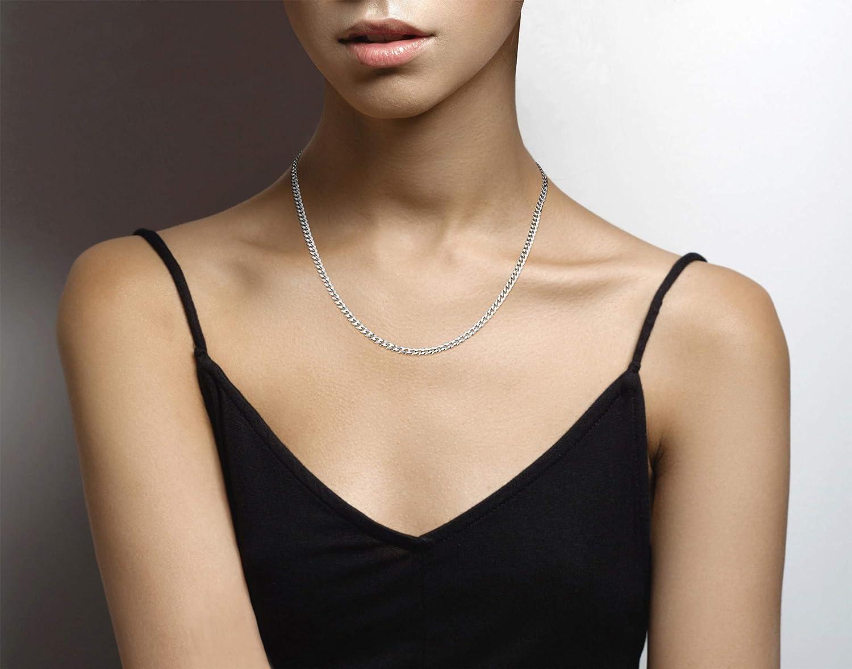MiaBella Solid 925 Sterling Silver Italian 3.5mm Diamond Cut Cuban Link Curb Chain Necklace for Women Men 16-18-20-22-24-26-30