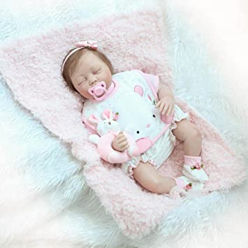 nicery Reborn bebé muñeca suave Simulación Silicona Vinilo 22 (48 – 55 cm), los niños amigo magnético boca realista juguete niño Niña con ...