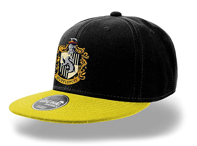 e6c0da8a3 Amazon.com: Harry Potter Official Hogwarts Hufflepuff Crest Snapback ...