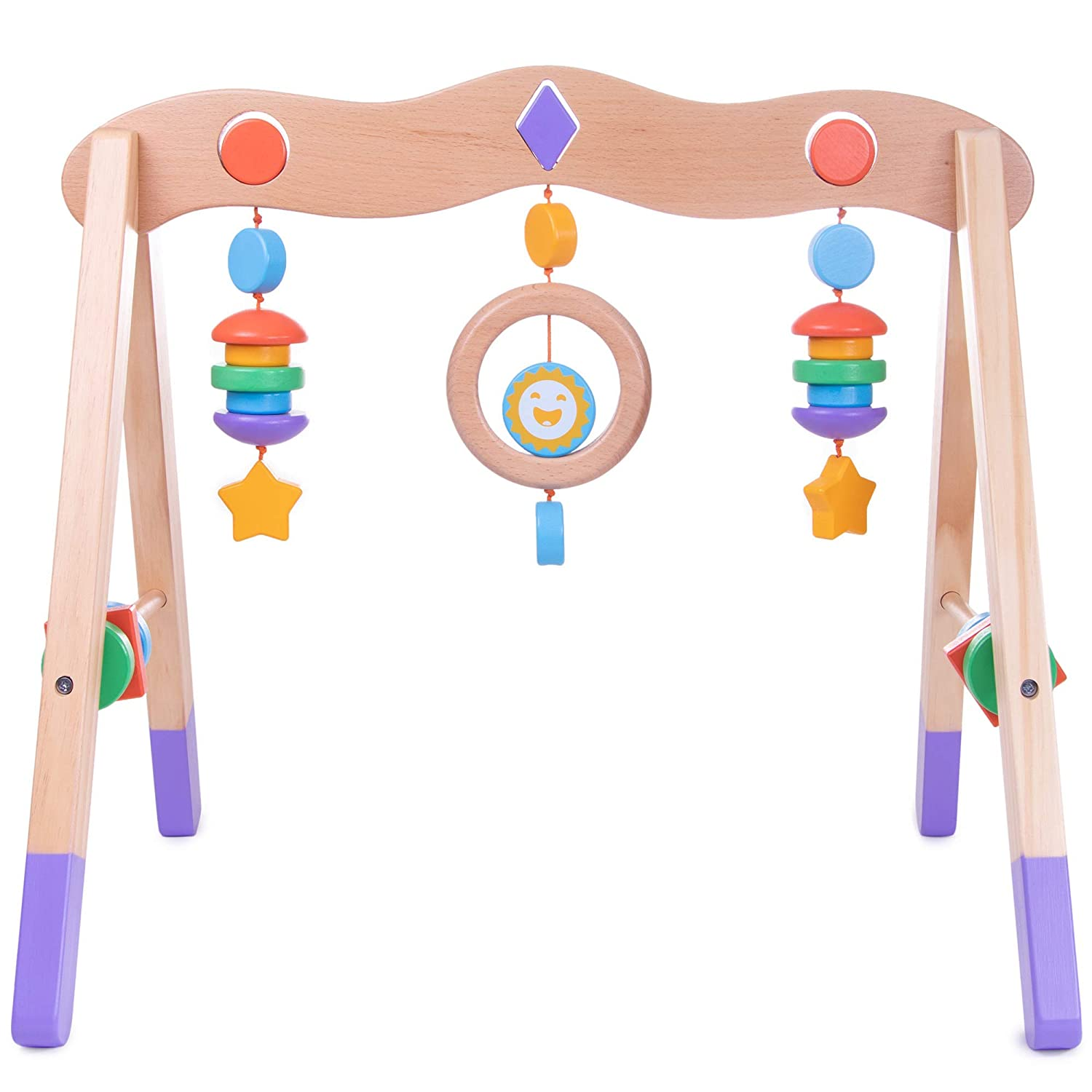 Imagination Generation Little Olympians Wooden Baby Play Gym | Infant Sensory/Motor Activity Center with Cute Shapes and Colors Brybelly Holdings Inc.