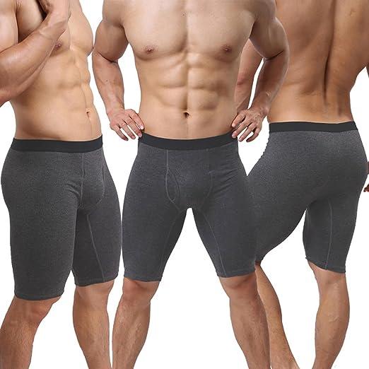 219af748612 Men s Sport Performance Compression Underwear Mid-Waist Long Leg Underpants Stretch  Shorts Pouch Boxer Briefs