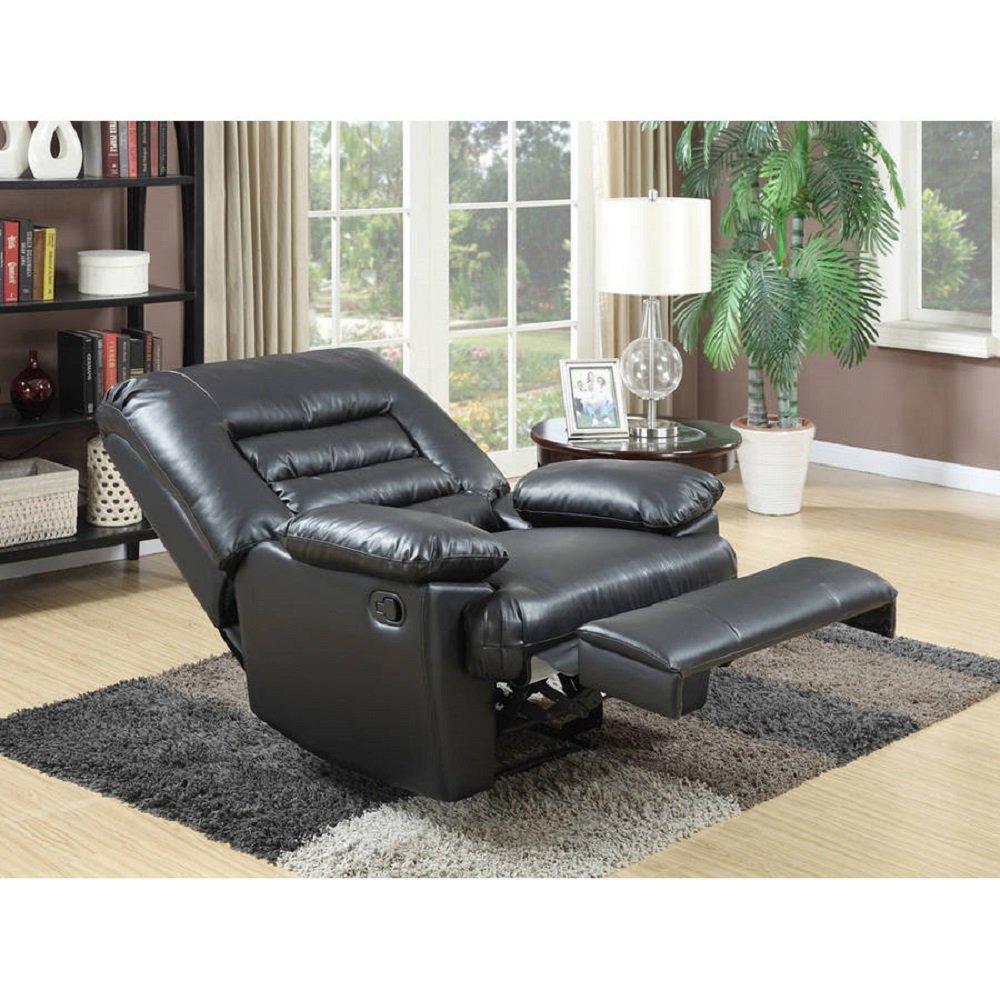 Amazon.com: Serta Big U0026 Tall Memory Foam Massage Recliner CR 46357 Black:  Kitchen U0026 Dining