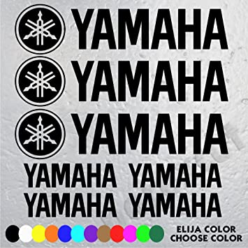 7 Stickers Logo Moto Yamaha 3 Logos And Letters 16 Cm X 38