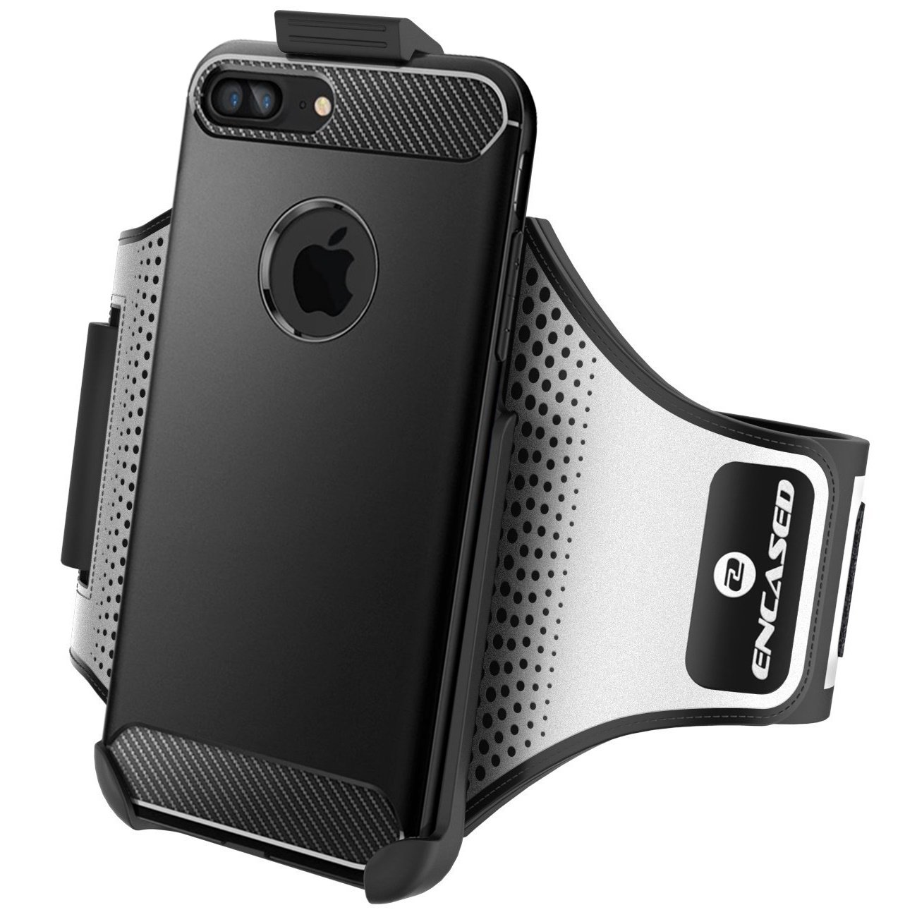 Workout Armband for Spigen Rugged Armor Case - iPhone 7 Plus & iPhone 8 Plus (5.5''), Sweat-Resistant Band (case is not Included) (Encased Products) by Encased