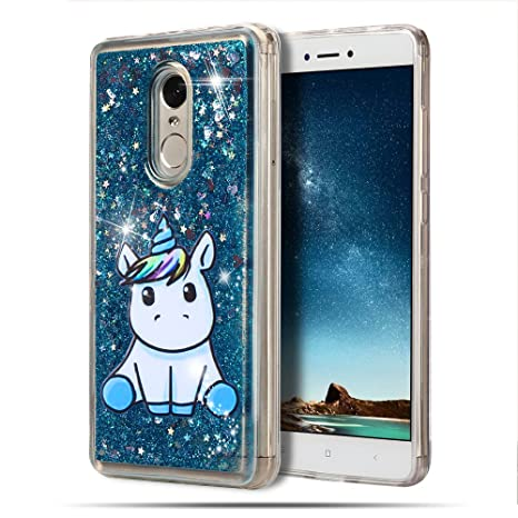 MoEvn Funda Xiaomi Redmi Note 4, Unicornio Bling Movediza ...