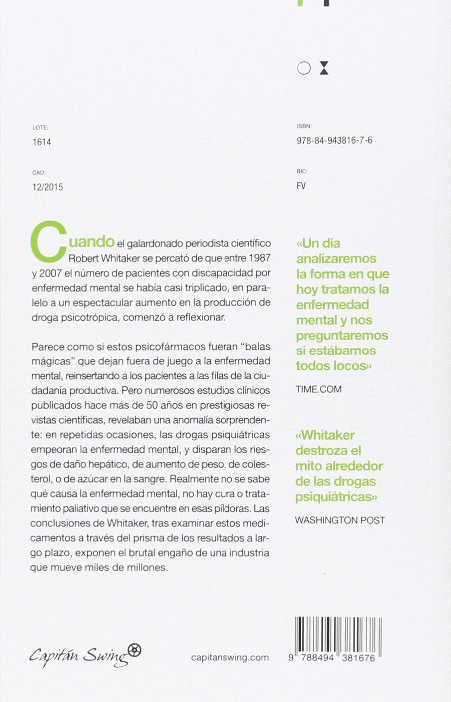 Anatomía de una epidemia (Ensayo): Amazon.es: Robert Whitaker, J ...