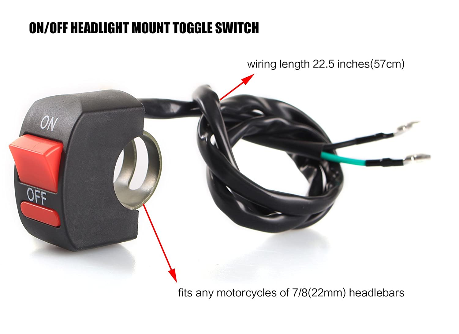 amazon com ledur switch on off motorcycle 7 9 inch universal motorcycle voltage regulator wiring amazon com ledur switch on off motorcycle 7 9 inch universal handlebar mounting switch for headlight fog daytime running light automotive