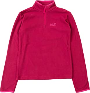 Jack Wolfskin Gecko Children's Outdoor Elastic Breathable Lightweight Fleece Jumper, Children's