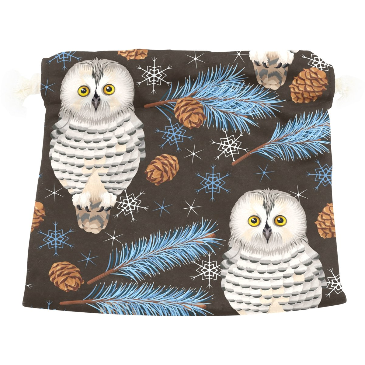 Dragon Sword Forest And Polar Owls Gift Bags Jewelry Drawstring Pouches for Wedding Party, 5.5x5.5(in)