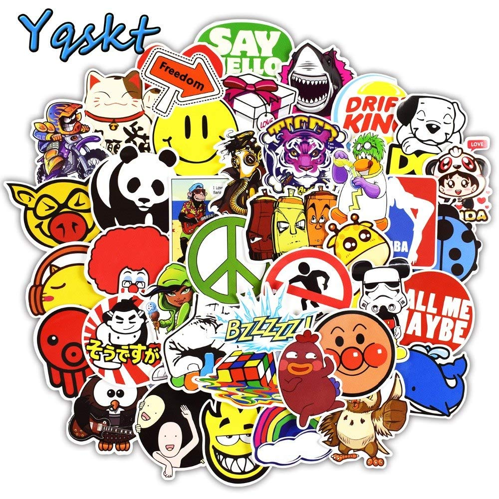 Buy gadgets wrap 200 pcs mixed fashion stickers for skateboard motorcycle car styling laptop luggage bicycle graffiti sticker online at low prices in india