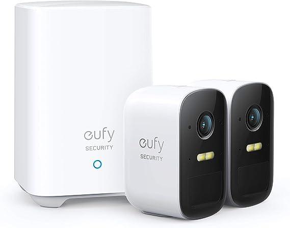 Eufy Security Eufycam 2c Kabelloses Sicherheitssystem 180 Tage Akkuleistung Hd 1080p Ip67 Wetterfest Nachtsicht Kompatibel Mit Homekit Doppel Kamera Set Ohne Monatliche Gebühren Baumarkt