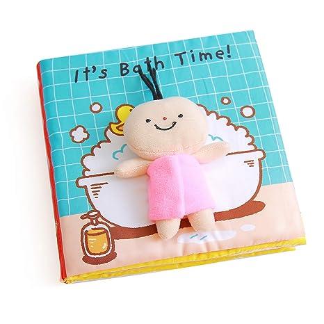 Libros Blandos para Bebé, Libro de Tela Bebé Aprendizaje y Educativo Libro para Bebé Recién Nacido Niños, Juguetes de Entretenimiento y ...