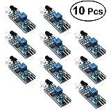 BESTOMZ Sensori a modulo evitamento ostacoli ad infrarossi per Arduino Smart Car e Robot 10PCS