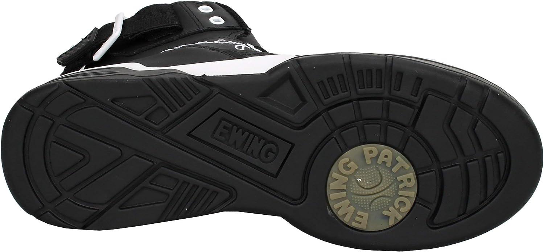 PATRICK EWING Athletics 33 HI Black Leather//White OG 1EW90014-011.