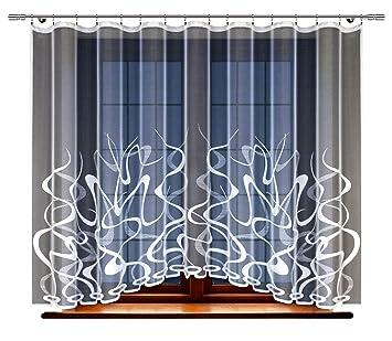Amazonde Haft Gardine Store Vorhang Transparent Elegant Weiß