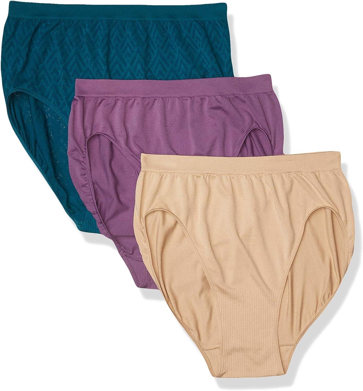 Bali Women's Comfort Revolution Seamless Hi-Cut Brief Panty 3-Pack