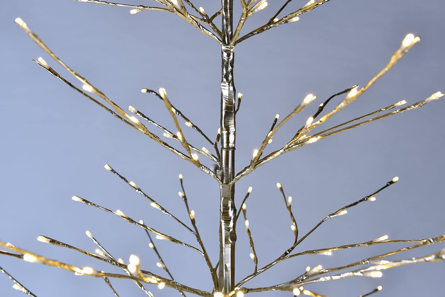 Lightshare 7 ft Golden Northern Lights Starlit Tree with 308 Warm White LED Lights 7 Feet LED Tree Champagne Gold Non-troditional Christmas Tree for Holiday Dռcor Wedding Party