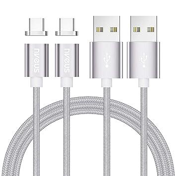 Magnético Cable USB Tipo C,NVEUS [2Pack 1M] Cargador ...