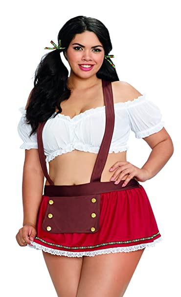9977ec05194 Dreamgirl Women's Plus Size Beer Garden Babe Oktoberfest Costume Set