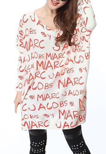 ELLAZHU Damas carta tejer vestido de suéter un tamaño SZ27 Beige
