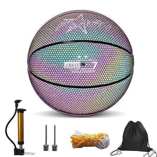 Balón De Baloncesto Ilumina Incl. Bomba De Balón - Brilla En La ...