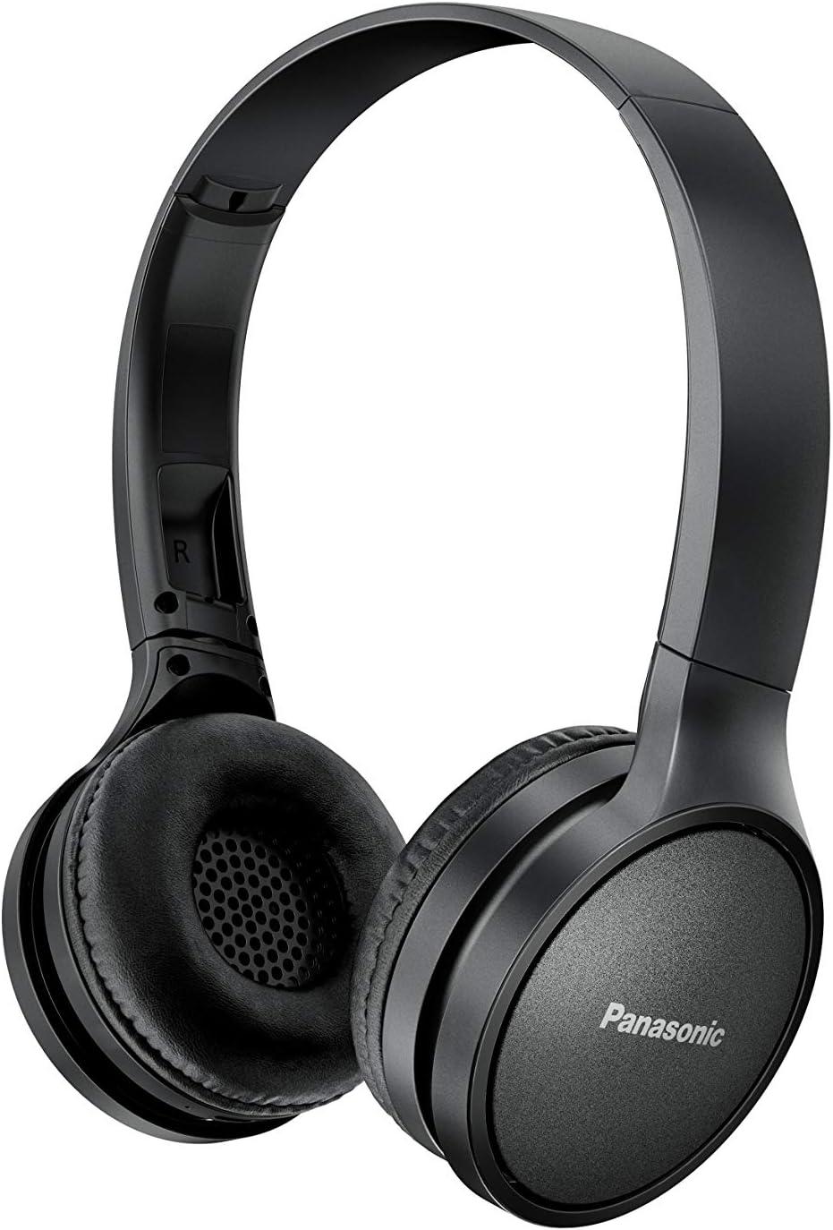 Panasonic RP-HF410BE-K -Auriculares Inalámbricos Minimalistas (Bluetooth, Unidad Control 30 mm, Imán de Neodimio, Plegable, 20h Duración, Control Voz, Carga Rápida), Color Negro: BLOCK: Amazon.es: Electrónica