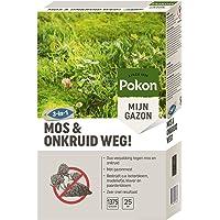 Pokon Mos en Onkruid Weg - Bestrijdt mos en onkruid in het gazon - Voor 25 m2