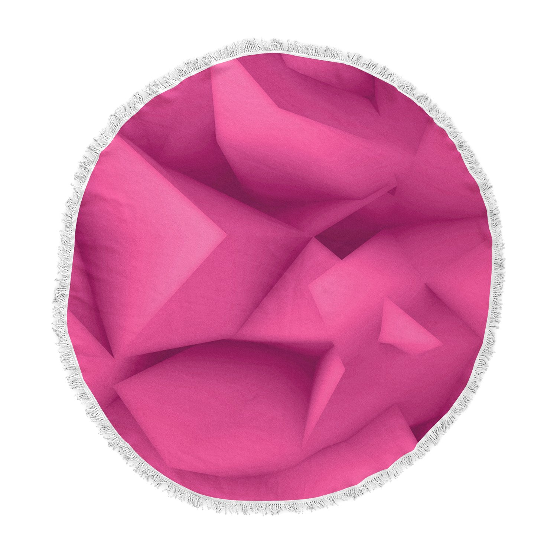 Kess InHouse Danny Ivan Thing Purple Pink Round Beach Towel Blanket