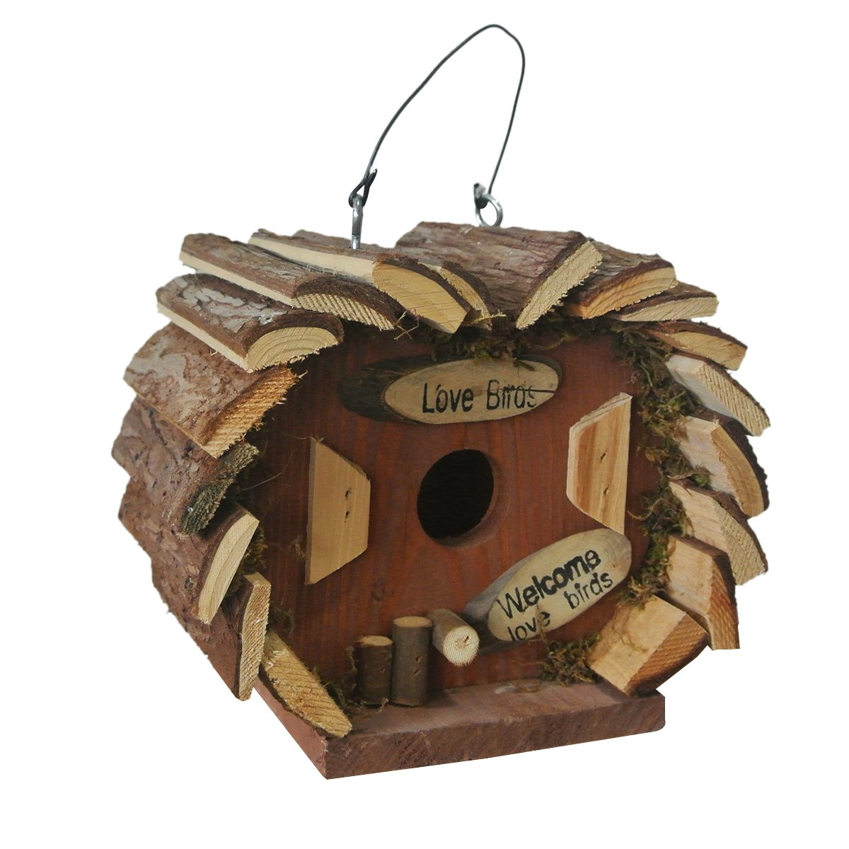 Bird Hotel House Hanging Wooden Nesting Box Estaci/ón Bird Small Home Feeder