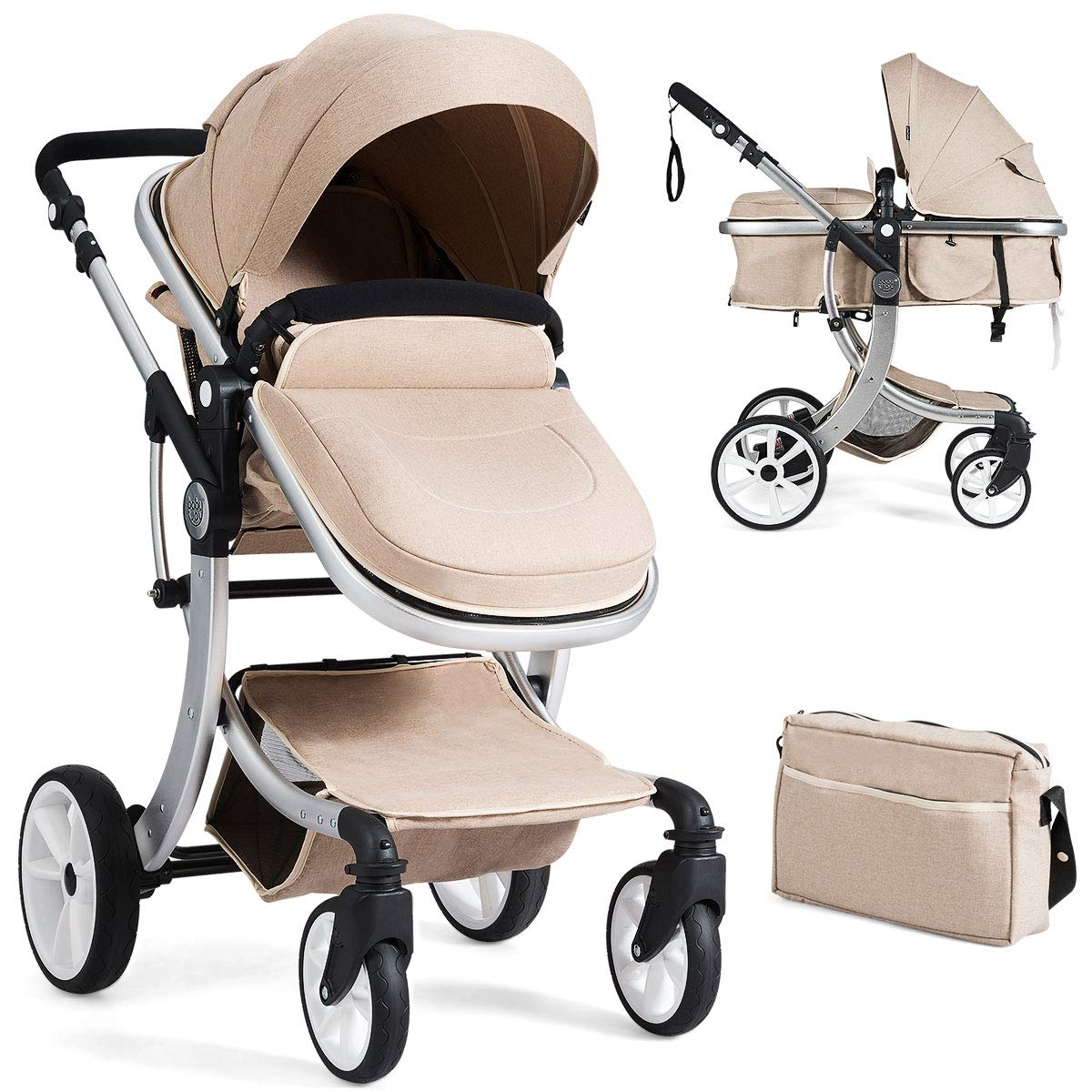 Carrycot Car Seat Travel System 3 in 1 /& 2 in1 Buggy Baby Stroller Baby Carriage