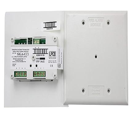 Est Edwards siga-cc1 fuego alarma inteligente analógico ADDRESSABLE solo módulo de señal de entrada