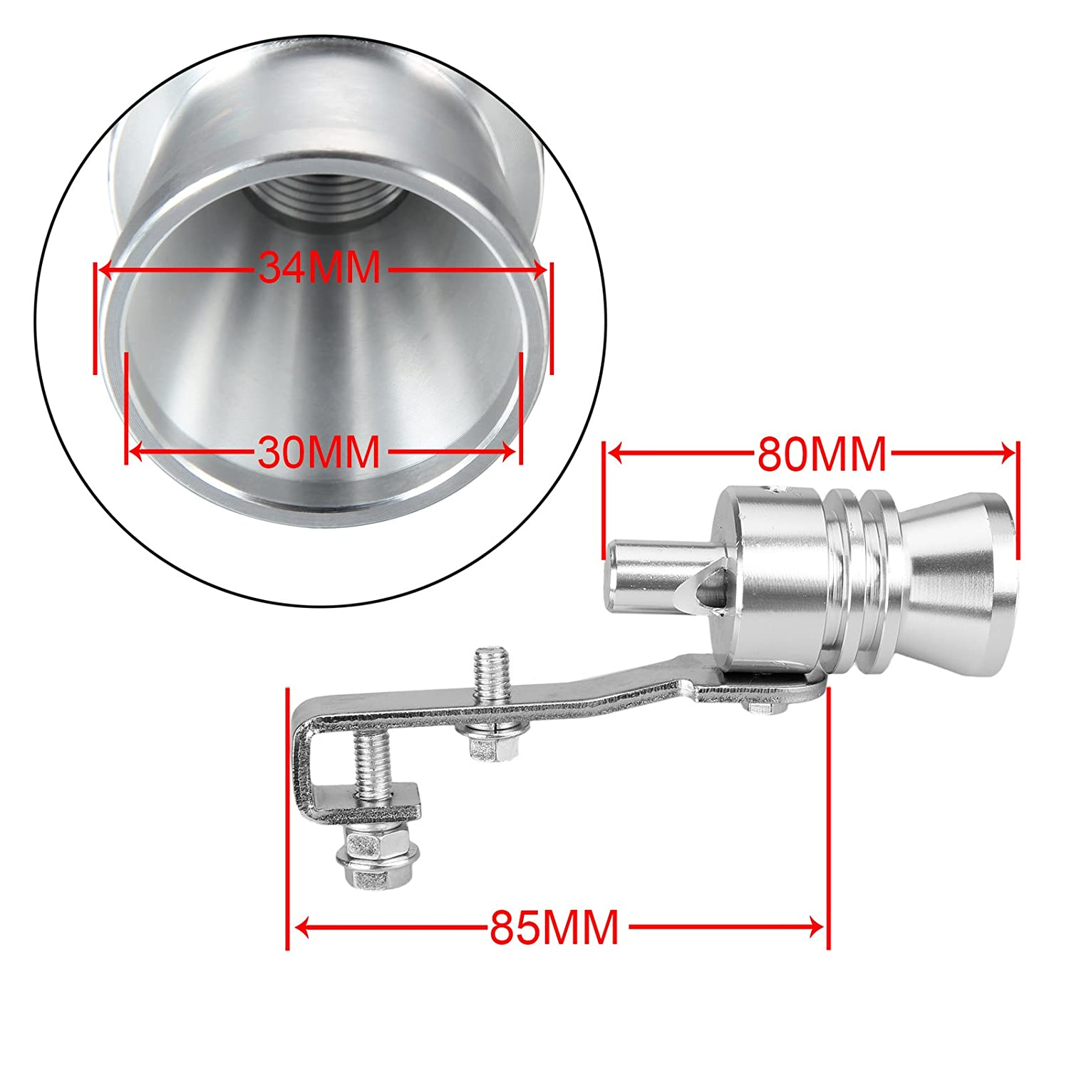 Amazon.com: Dromedary Universal Color Chrome Size XL Turbo Sound Noise Exhaust Muffler Pipe Whistle/Fake Blow off valve BOV Simulator Whistler: Automotive