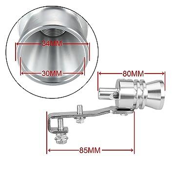 Dromedary - Silbato de Escape Universal con Sonido Turbo y válvula de soplado (Talla XL), Color Plateado: Amazon.es: Coche y moto