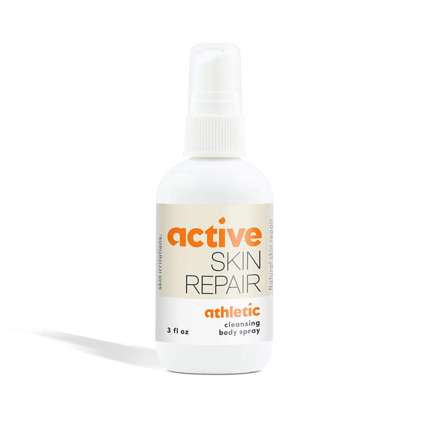 Active Athletic Cleansing Body Spray - Natural, Non-Toxic, and No Sting After Sport Treatment for Athletes Foot, Ringworm, Jock Itch, Fungus, and Other Skin Irritations, Doctor Recommended (3 oz)
