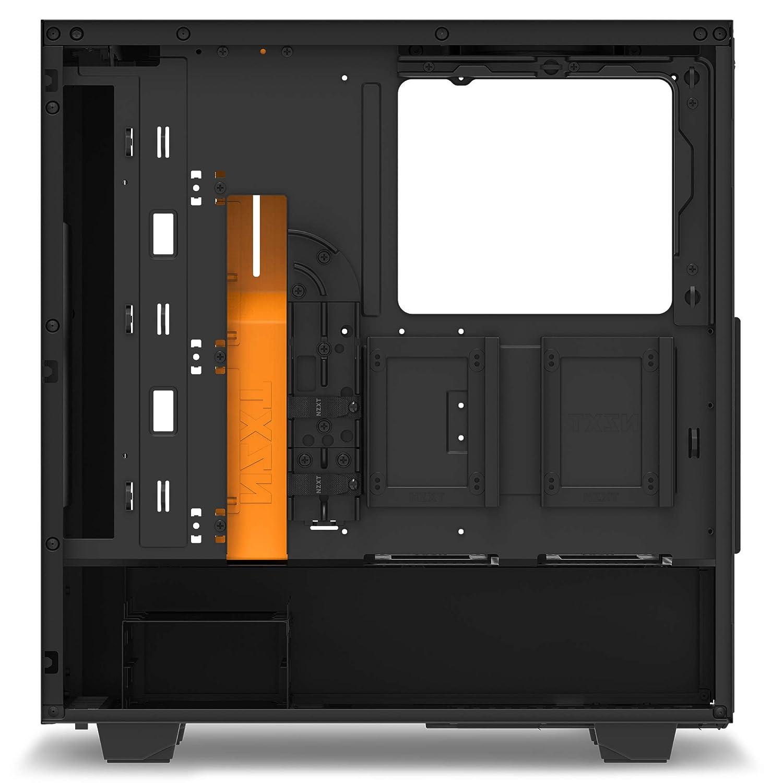 NZXT PC Gaming Case Negro Carcasa de Ordenador Naranja/Negro ...