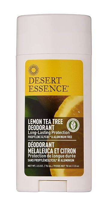 Desert Essence Lemon Tea Tree Deodorant - 2 5 oz