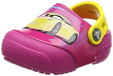 crocs Fun Lab Lights Frozen Clog, Unisex - Kinder Clogs, Pink (Berry), 30/31 EU