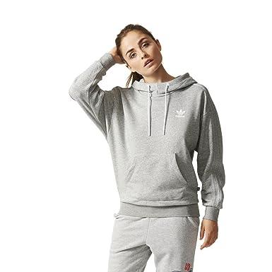44 Mujer Originals Adidas 42 Capucha Sudadera de Gris Con YxZaSTY