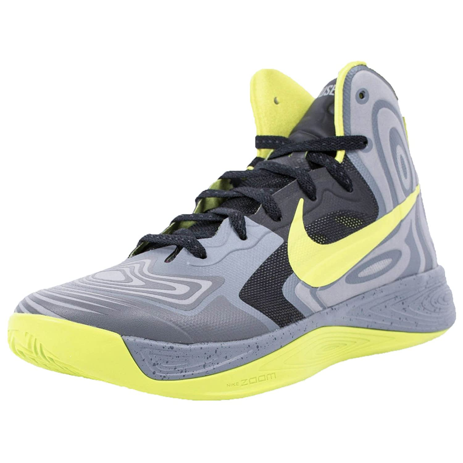 new products b9114 3721e Amazon.com   Nike HYPERFUSE SUPREME BASKETBALL SHOES COOL GREY ATOMIC GREEN  BLACK 536861 001   Basketball
