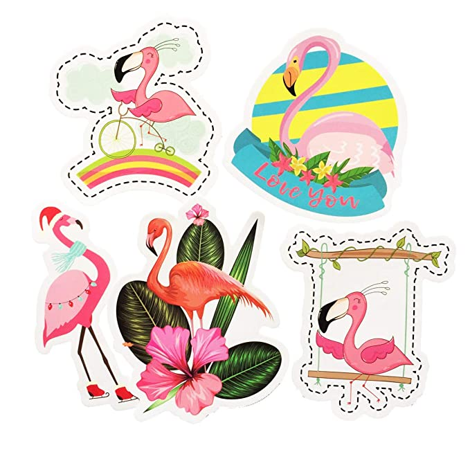 Pegatinas de 50 unidades, diseño de flamenco, color rosa, con ...