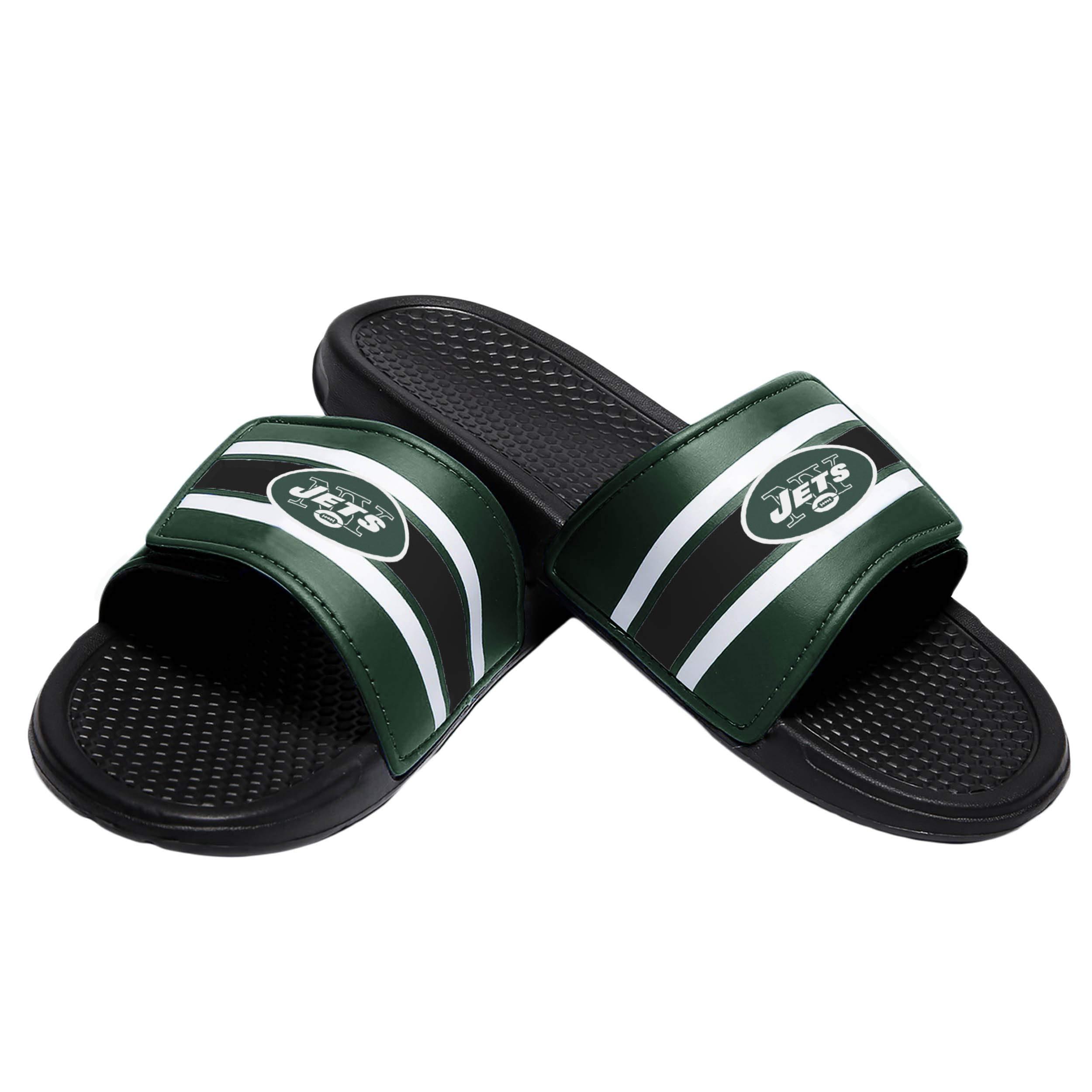 New York Jets NFL Mens Stripe Legacy Sport Slide - M