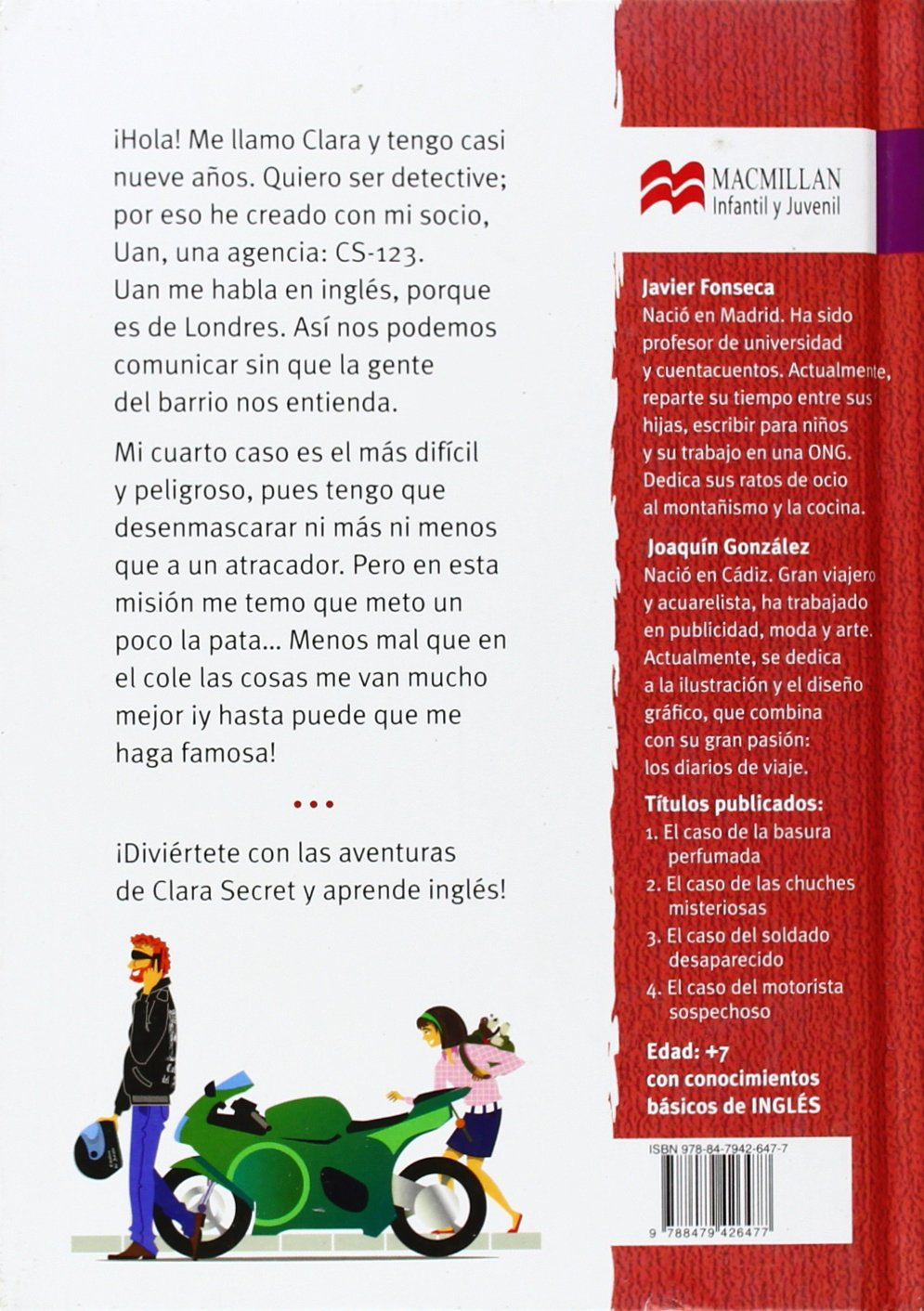 El caso del motorista sospechoso (Clara Secret) (Spanish and English Edition): Javier Fonseca, Joaquín González: 9788479426477: Amazon.com: Books