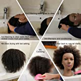 2e22669f6a5ad Mannequin Head African American with 100% Human Hair Cosmetology Afro Hair  Manikin Head for Practice Styling Braiding
