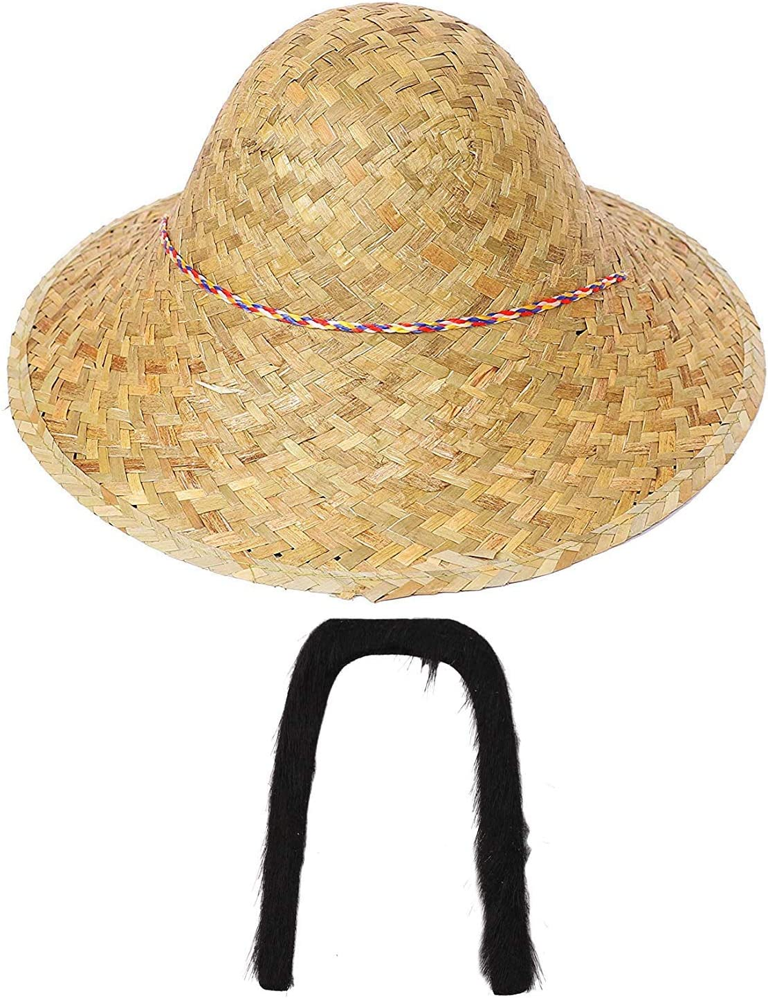 Confezione da 1 Cappello in Costume Cappello di Paglia Asiatico Uomo Cinese I LOVE FANCY DRESS LTD Cappello Orientale Cinese