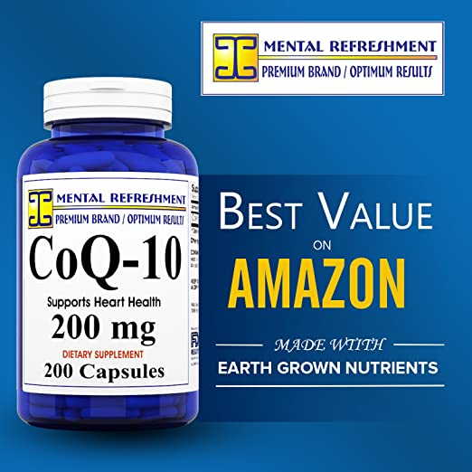 Amazon.com: Refrescación mental: Pure CoQ10 200 Mg 200 ...