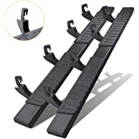 6 Inches Running Boards& Steps for 2007-2018 Silverado/Sierra Crew Cab(Not Suitable for 2019-2021 Silverado),A Pair…